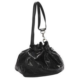 Dior-Dior Black Cannage Leather Bucket Bag-Black