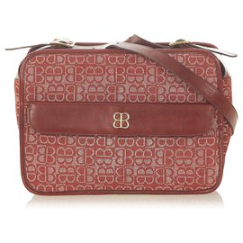 Balenciaga-Balenciaga Red Canvas Shoulder Bag-Red