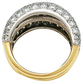 Cartier-Cartier ring yellow gold, platinum and diamonds.-Other