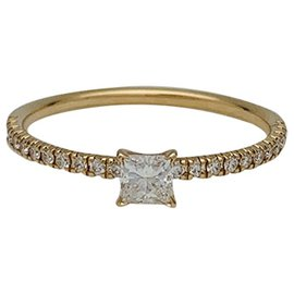 """Cartier-Cartier """"Etincelle"""" ring in yellow gold and diamonds.-Other"""