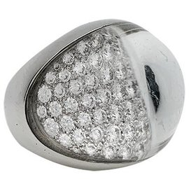 """Cartier-Cartier """"Myst"""" ring in white gold, rock crystal and diamonds.-Other"""