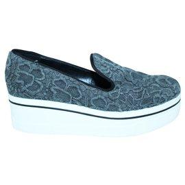 Stella Mc Cartney-Grey High Slip On Sneakers-Grey