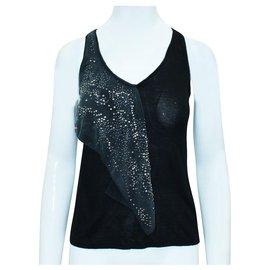 Balenciaga-Black Top with Studs-Black