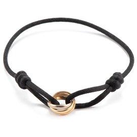 Cartier-Trinity de Cartier Cord Bracelet -Golden,Metallic