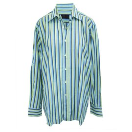 Etro-Green and Blue Striped Shirt-Multiple colors