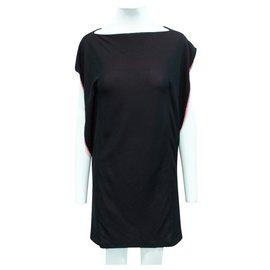 Balenciaga-Black/Pink Shift Dress-Black