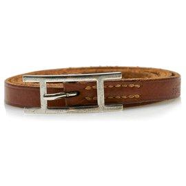 Hermès-Hermes Brown Hapi 3 Leather bracelet-Brown