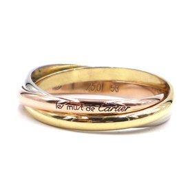 Cartier-cartier 18k Tricolor Trinity Ring Size 53-Multiple colors
