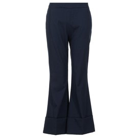 Stella Mc Cartney-Cropped Hem Pants-Black