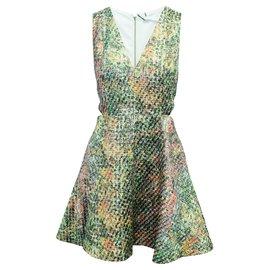 Alice + Olivia-Metallic Multicolor Dress-Metallic