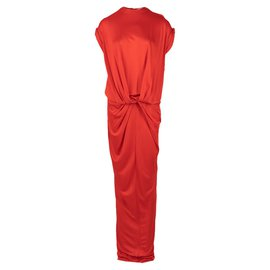 Givenchy-Twist Front Gown -Red