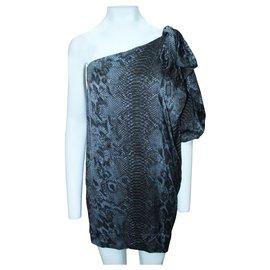 Stella Mc Cartney-Snake Skin print One Shoulder Dress-Multiple colors