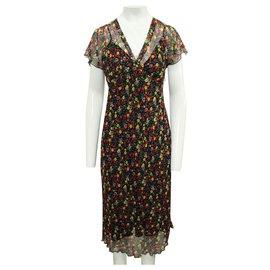 Anna Sui-Long Floral Print Dress-Multiple colors