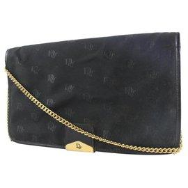 Dior-Black Monogram Trotter Flap Shoulder Bag 6DA525-Other