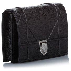 Dior-Dior Black Diorama Leather Crossbody Bag-Black
