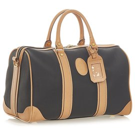 Dior-Dior Black Leather Boston Bag-Brown,Black,Light brown