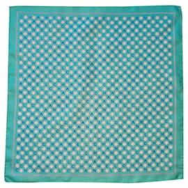 Chanel-Silk scarves-Turquoise