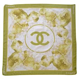 Chanel-Silk scarves-Green,Yellow