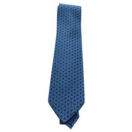 Hermès-Hermès tie, new with its box-Blue