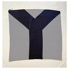 Yves Saint Laurent-Silk scarves-Black,White
