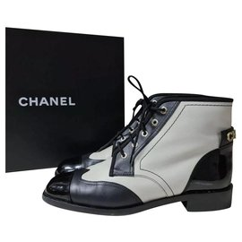 Chanel-Chanel Multicolour Lace Up  Booties Size 39-Multiple colors
