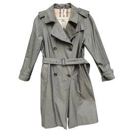 Burberry-Burberry women's trench coat 42-Grey