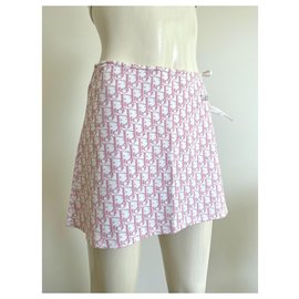 Dior-Christian Dior monogram skirt girly collection-Pink,White