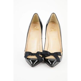 Christian Louboutin-Size 38.5 Black Patent Love Me 120 So Kate Red Bottom Heels 1cl526-Other