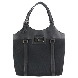 Dior-Black Monogram Trotter Street Chic Tote-Other
