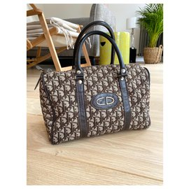 Dior-Dior speedy / bowling / Boston monogram bag 24H-Brown,Black,Beige,Light brown