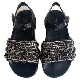 Chanel-Dad Sandals-Black
