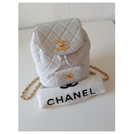 Chanel-Chanel XL backpack, Exceptional piece-White