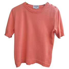 Chanel-Vintage sweater by Chanel Boutique-Pink