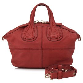Givenchy-Givenchy Red Micro Nightingale Leather Satchel-Red
