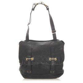 Yves Saint Laurent-YSL Black Medium Besace Leather Flap Bag-Black