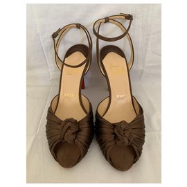 Christian Louboutin-Gres bronze high sandals-Bronze
