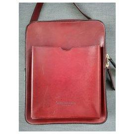 Burberry Prorsum-Burberry Prorsum men messenger bag-Dark red