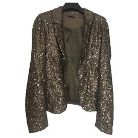 Ikks-Jackets-Khaki,Metallic