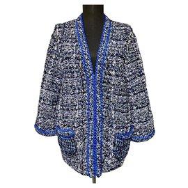 Chanel-NEW Chain Trim Jacket-Blue