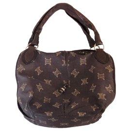 Céline-Handbags-Brown,Navy blue
