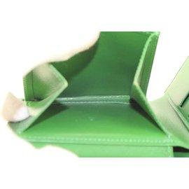 Louis Vuitton-Green Epi Leather Borneo Men's Bifold Wallet Slender Multiple-Other