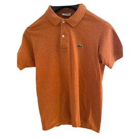 Lacoste-Orange 'Hermes' Lacoste polo shirt-Orange