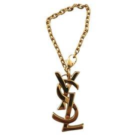 Yves Saint Laurent-Bag charms-Gold hardware