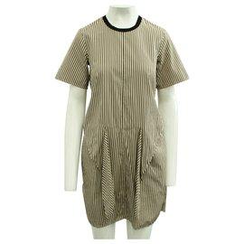 3.1 Phillip Lim-Brown Stripes Dress-Brown
