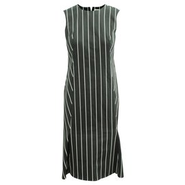 Balenciaga-Black Striped Dress-Black