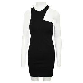 Halston Heritage-Black Bandage Dress-Black