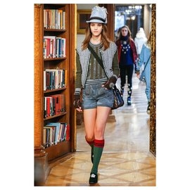 Chanel-SALZBURG Strass Buttons Cardigan-Grey