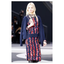 Chanel-new cashmere cardigan-Navy blue