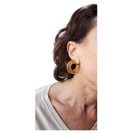 Balenciaga-Earrings-Golden