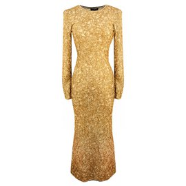 Chanel-EGYPT Maxi Flare Dress-Golden